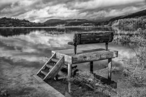 Paul Livingston - Bench At High Tide